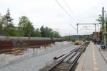 Der zweite Bahnsteig am HP Fischbach im Bau