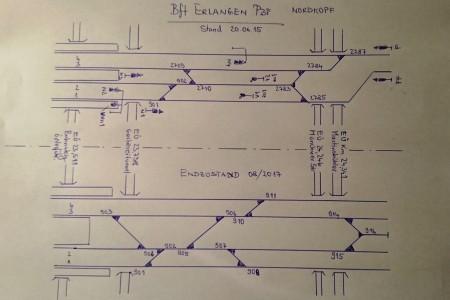 Gleisplan Erlangen - Nordkopf