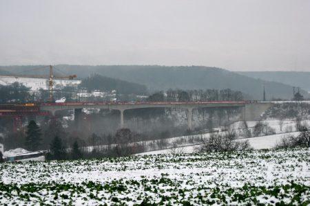 Blick auf die Emskirchner Brücke, 5.1.2016
